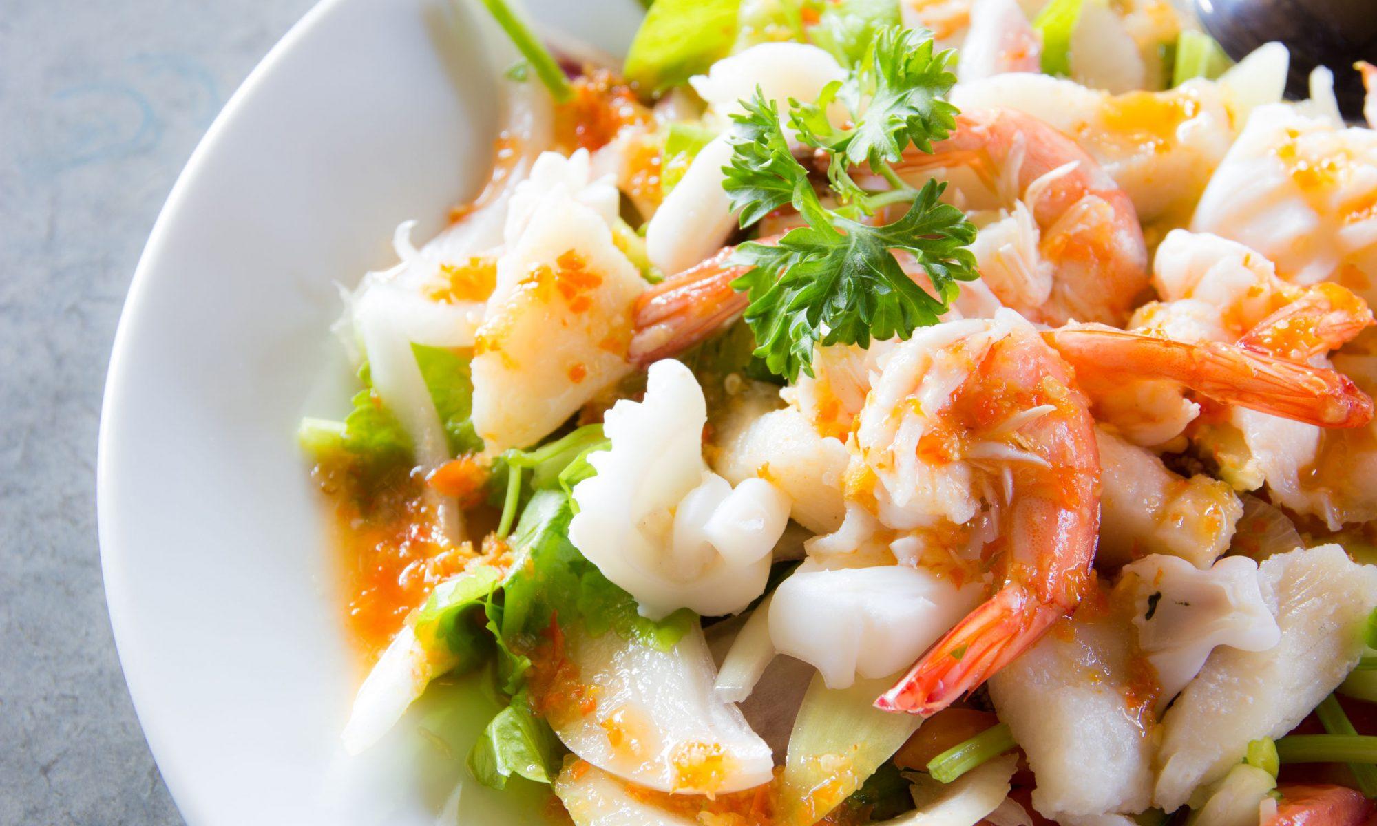 Морской теплый салат: рецепт приготовления для гурманов