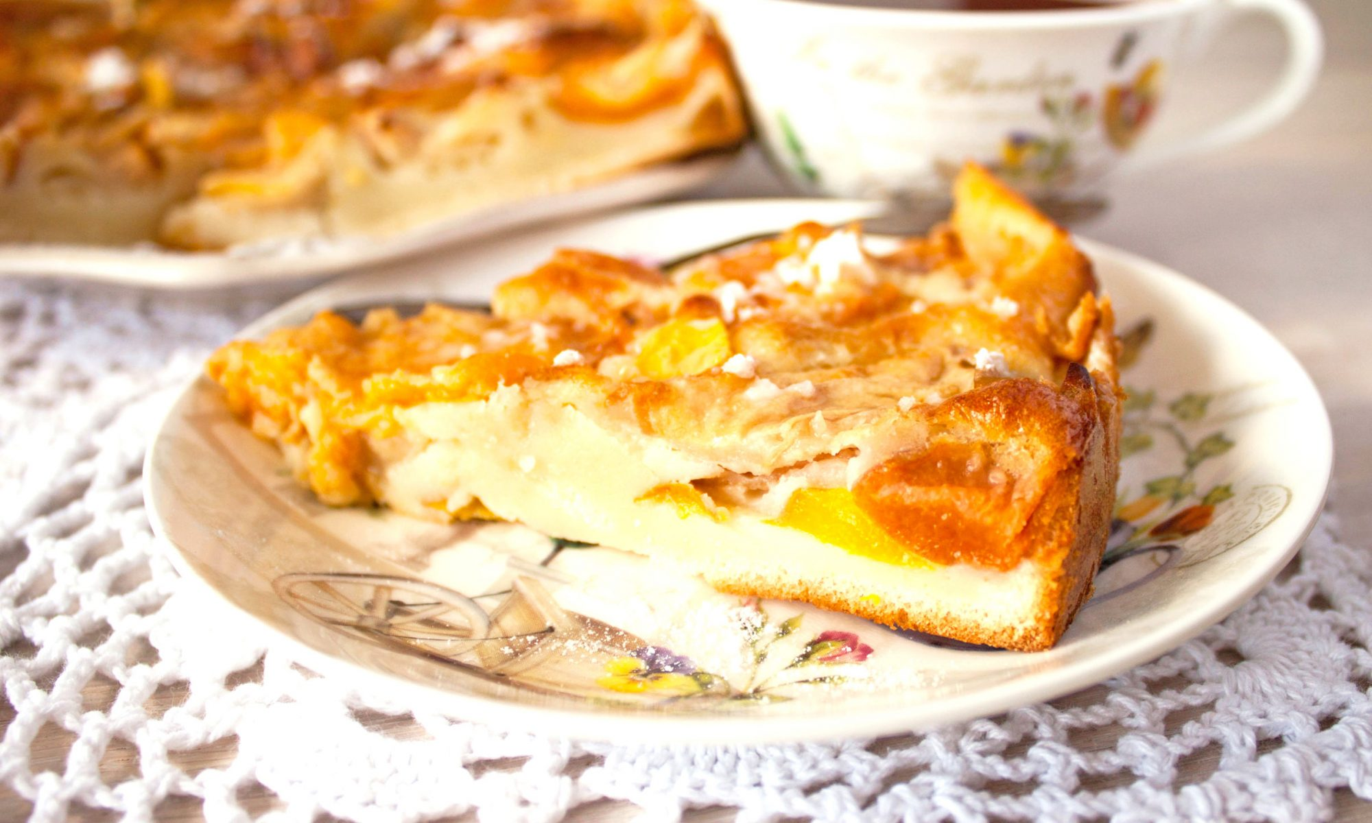 Ароматный пирог с тертыми яблоками