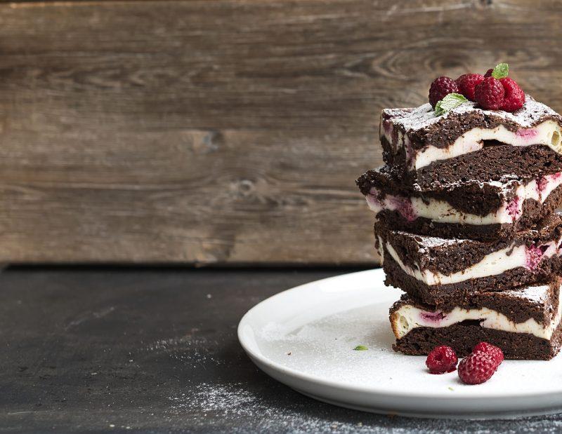 Брауни шоколадный чизкейк
