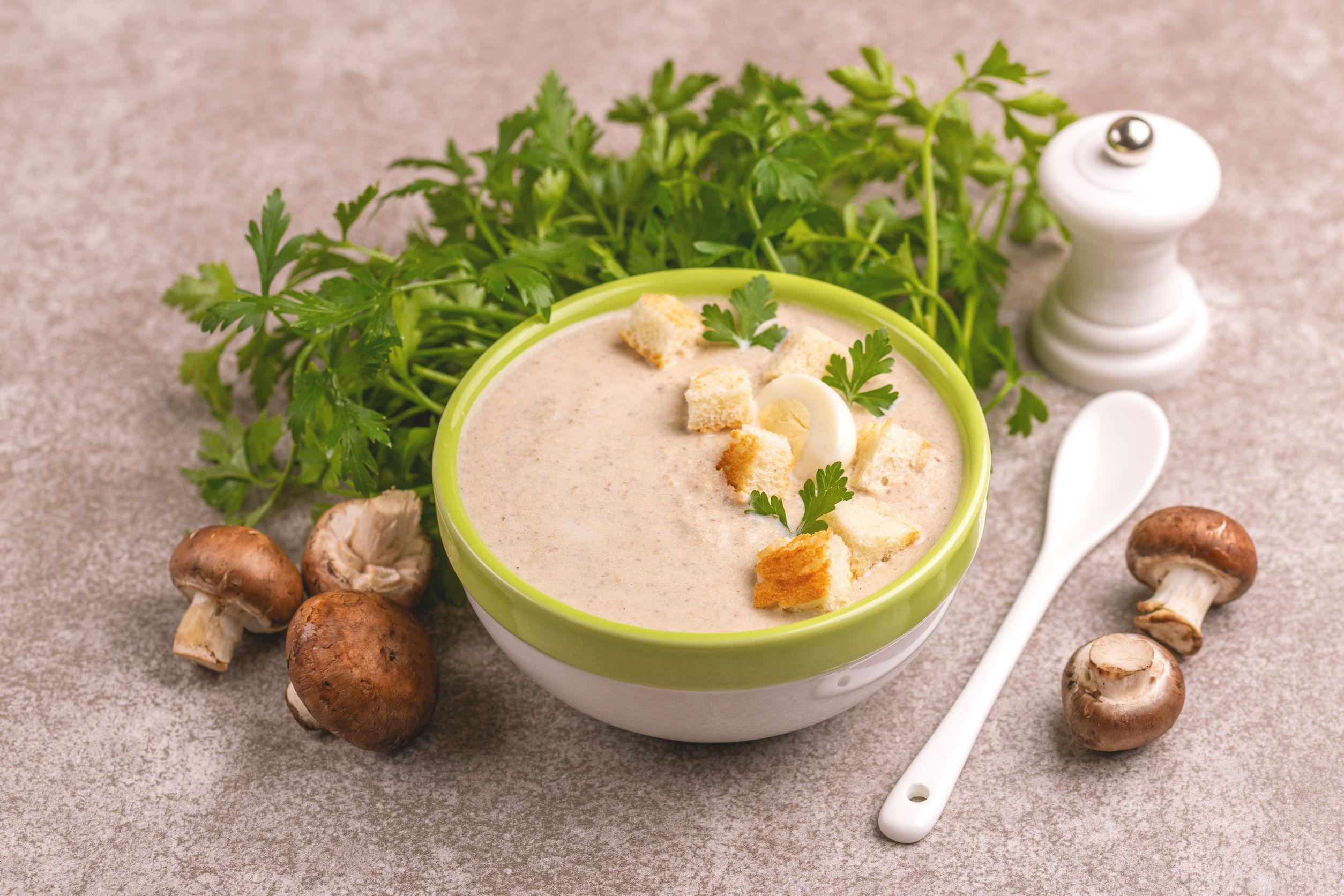 Рецепт супа-пюре из шампиньонов со сливками