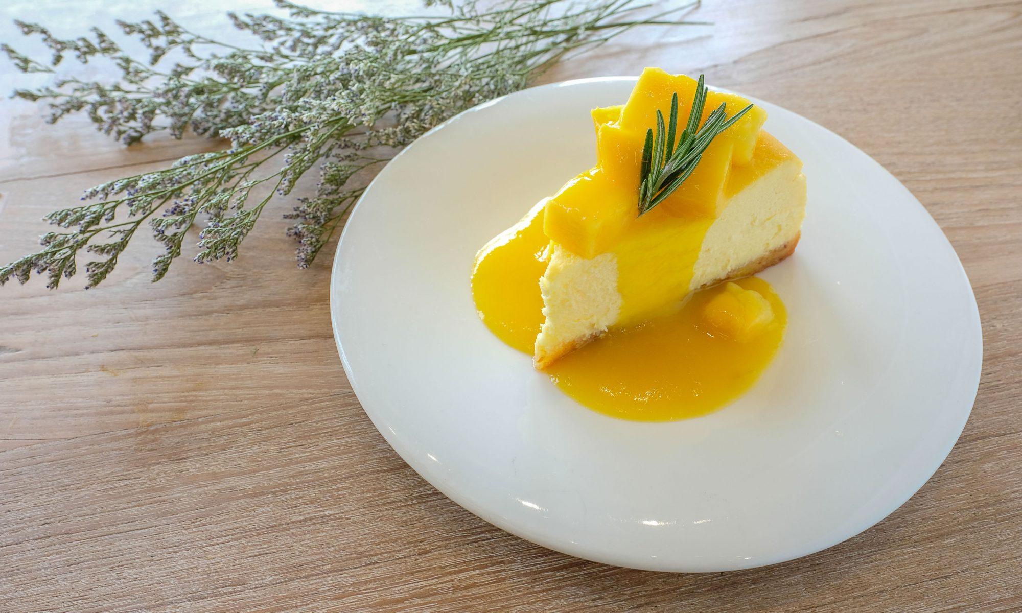 Творожный чизкейк: рецепт с манго