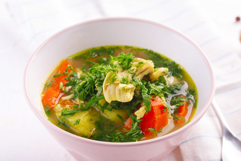 Легкий курино-рисовый суп