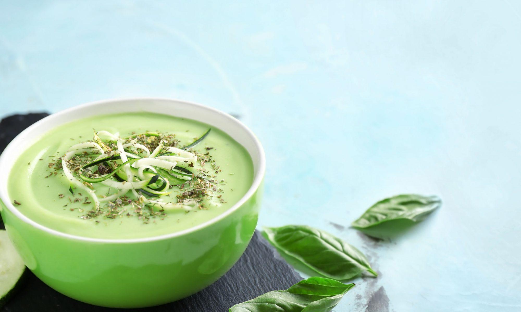 Диетический крем-суп из кабачков со сливками