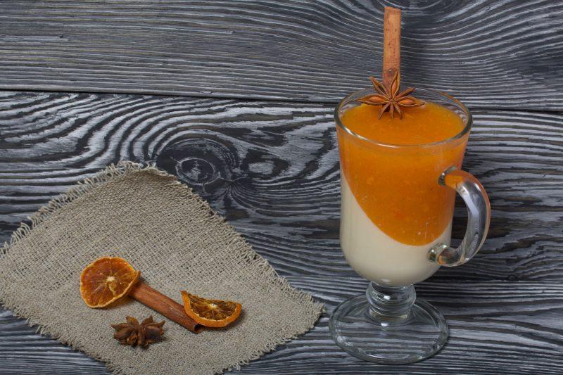 Десерт на Новый Год: мандариновая панна-котта
