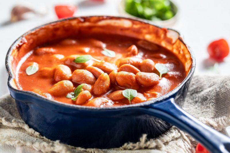 Как приготовить белую фасоль в томатном соусе