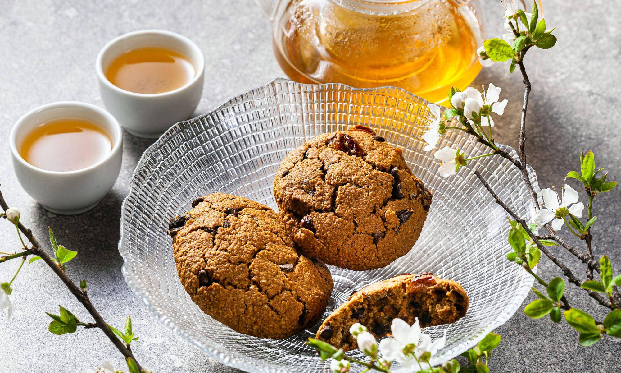 Овсяное печенье с шоколадом и фундуком