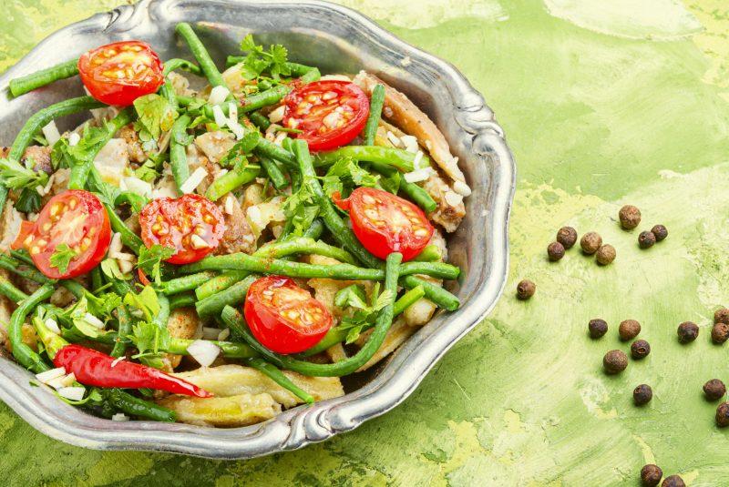 Куриный салат на гриле