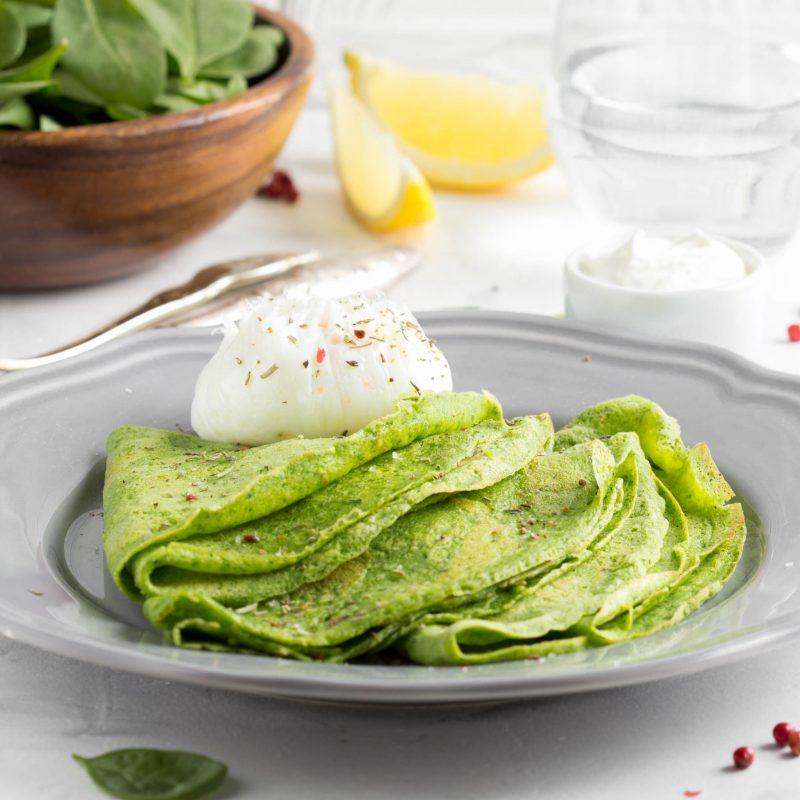 Блинчики: рецепт на молоке с зеленью