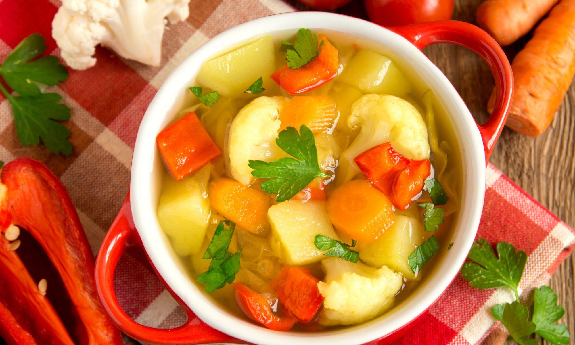 Диетический овощной суп: рецепт