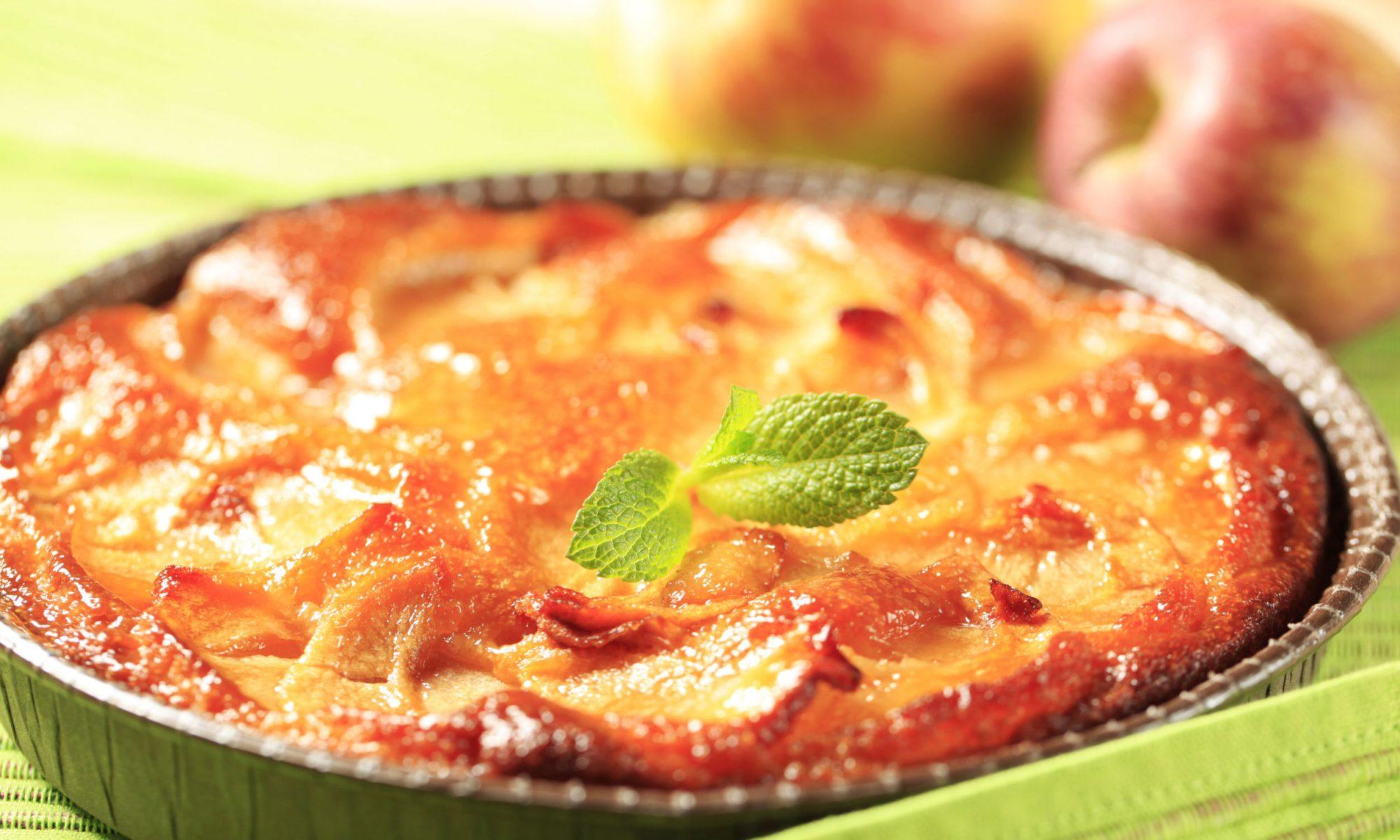 Пирог перевертыш с яблоками