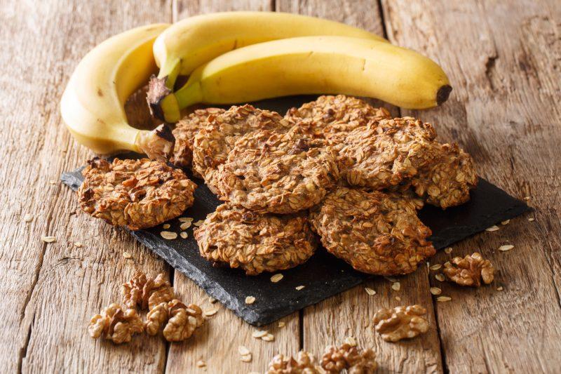 Как приготовить бананово-овсяное печенье