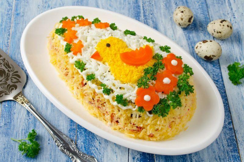 """Праздничный салат """"Пасхальное яйцо"""""""