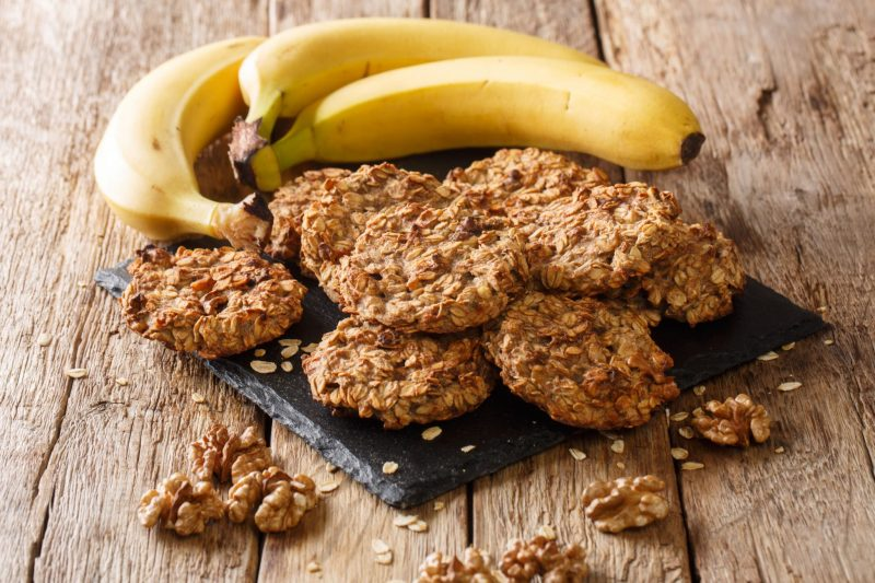 Банановые печенья: рецепт с овсяными хлопьями