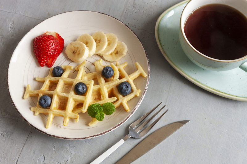 Легкий рецепт пп вафли в вафельнице