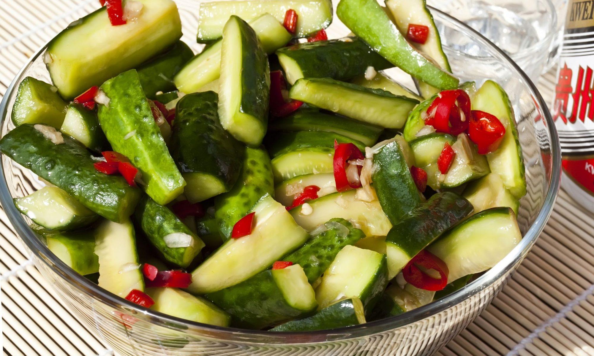 Как приготовить китайский салат из огурцов