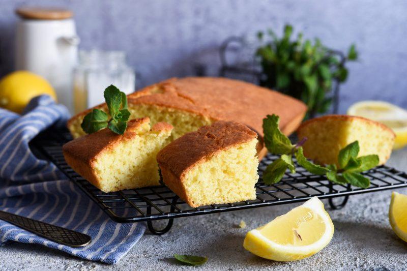Нежный творожно-лимонный кекс