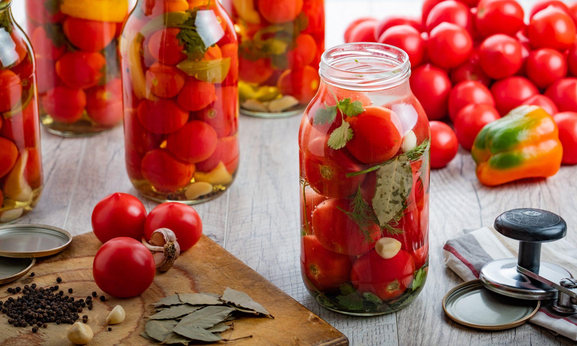 Аппетитные помидоры без стерилизации