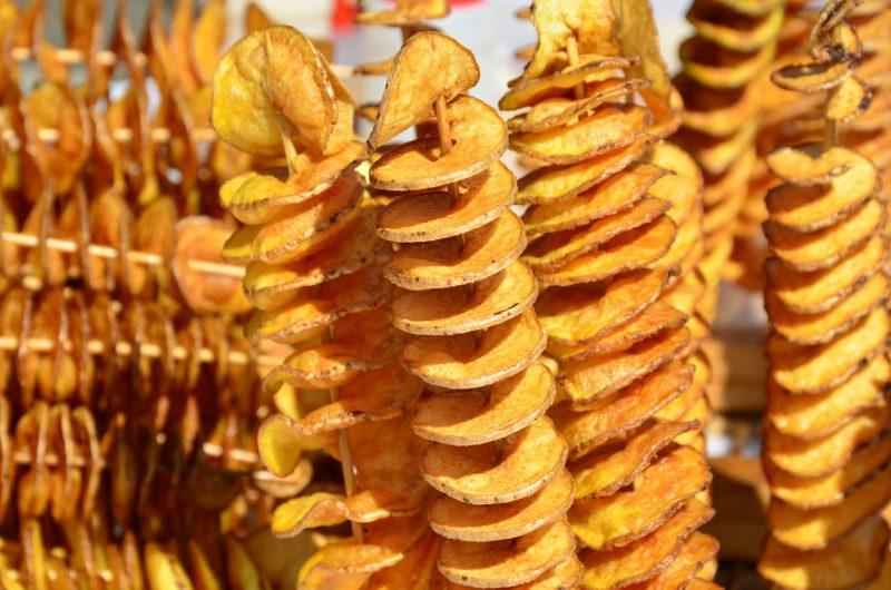 Хрустящие картофельные спирали