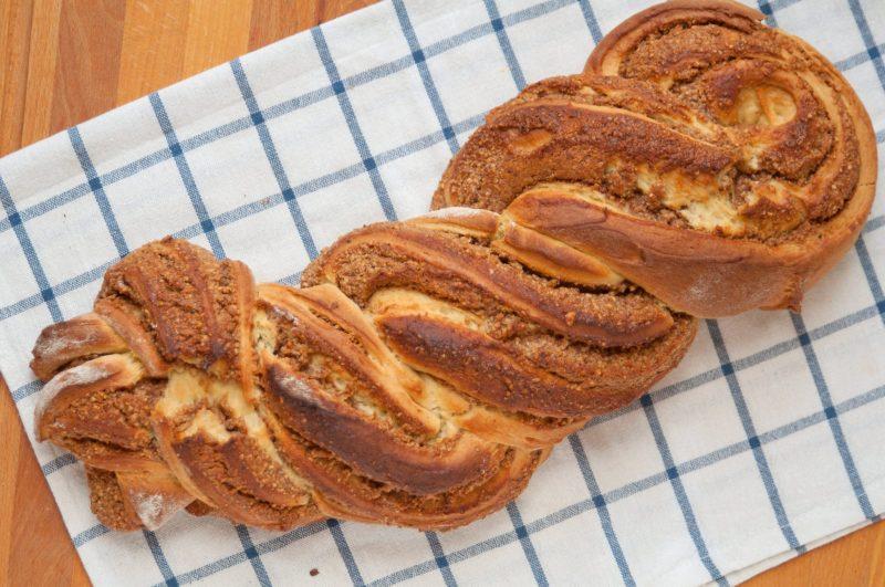 Пирог на сыворотке с орехами