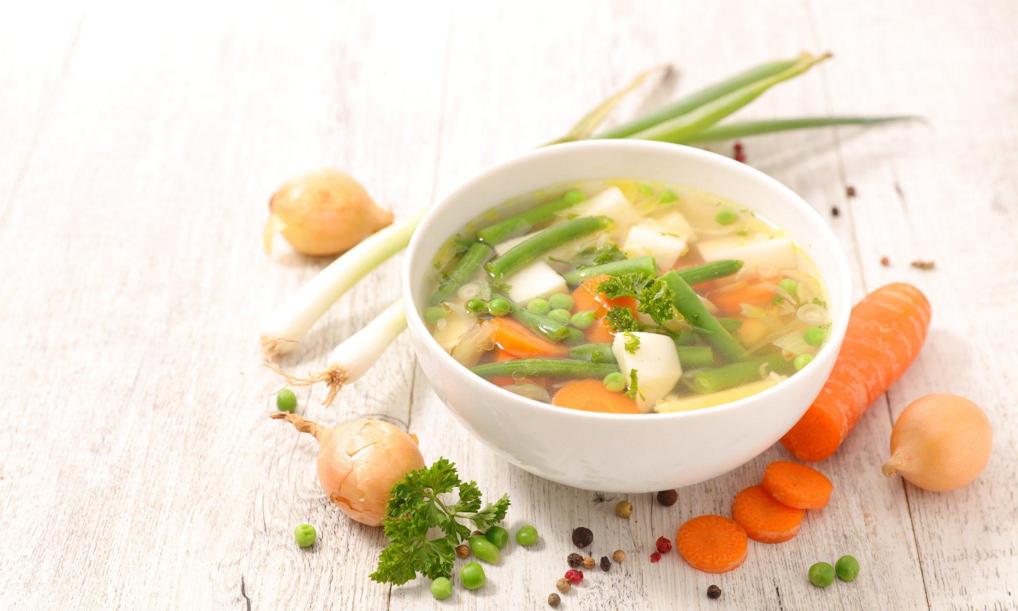 Рецепт вкусного диетического овощного супа
