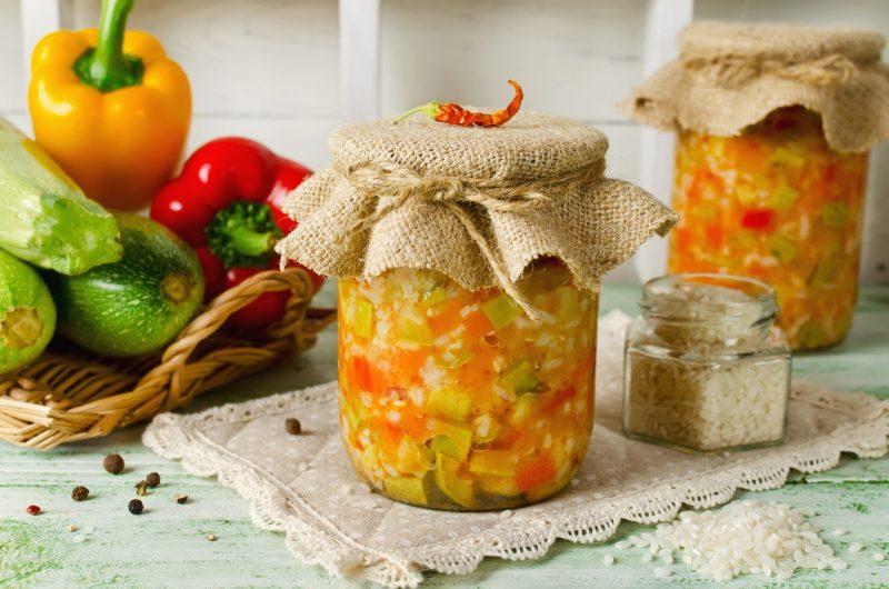Рецепт салата из кабачков с овощами