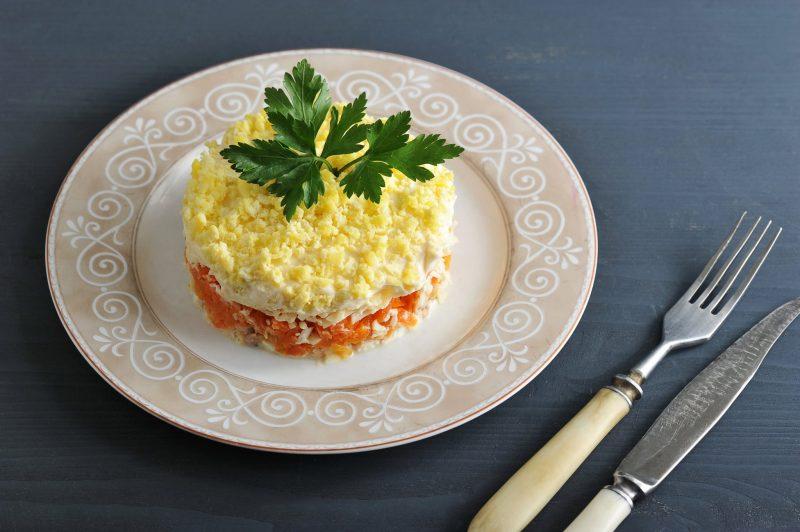 Салат «Парус» рецепт классический