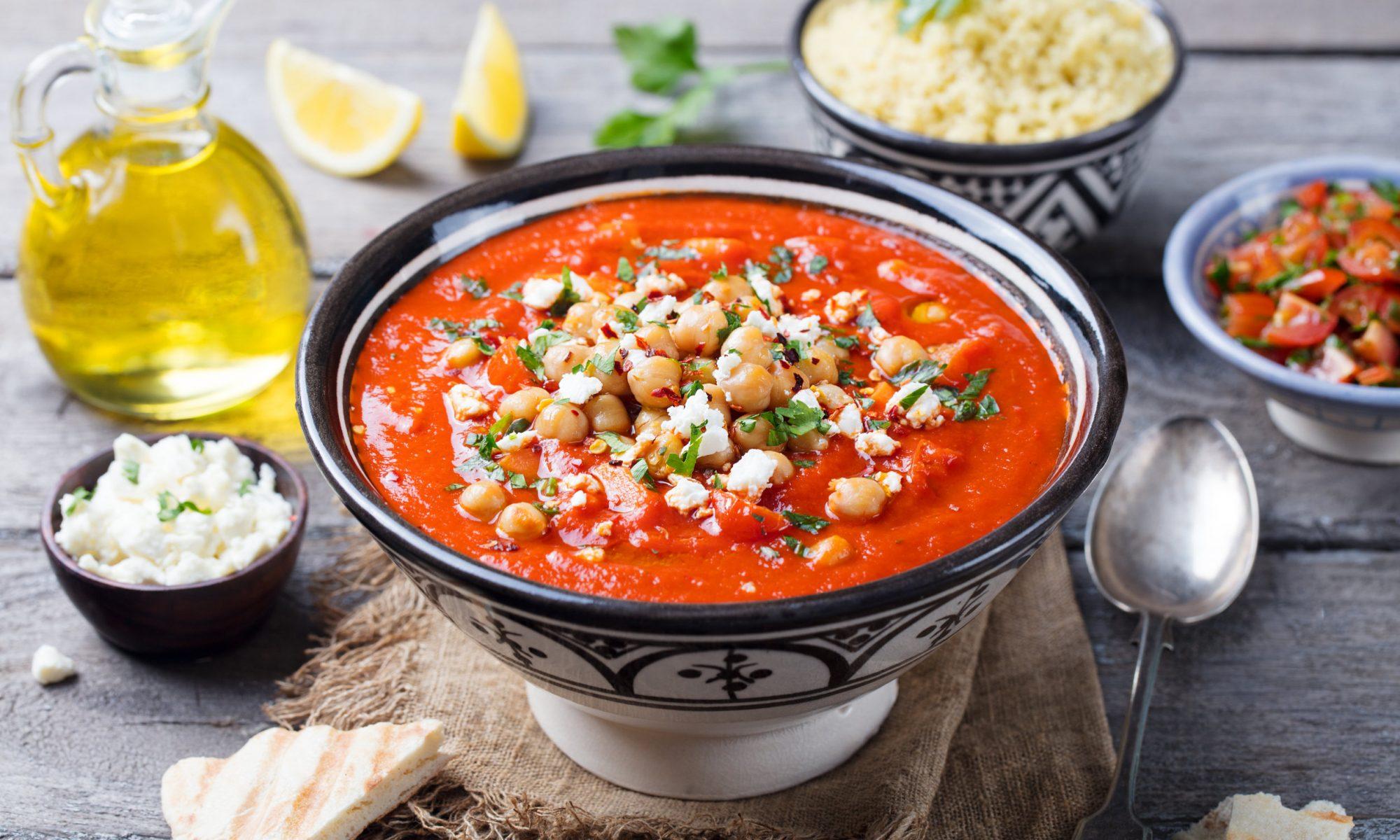 Изысканный томатный суп-пюре с сыром