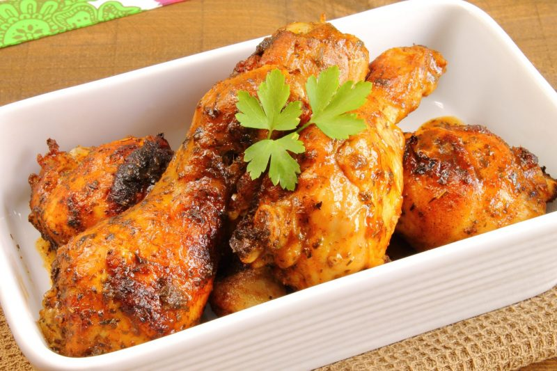 Запеченная курица с пармезаном