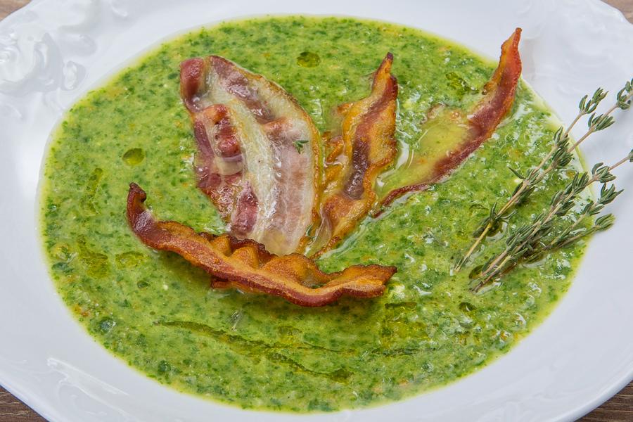 Суп из шпината и чечевицы