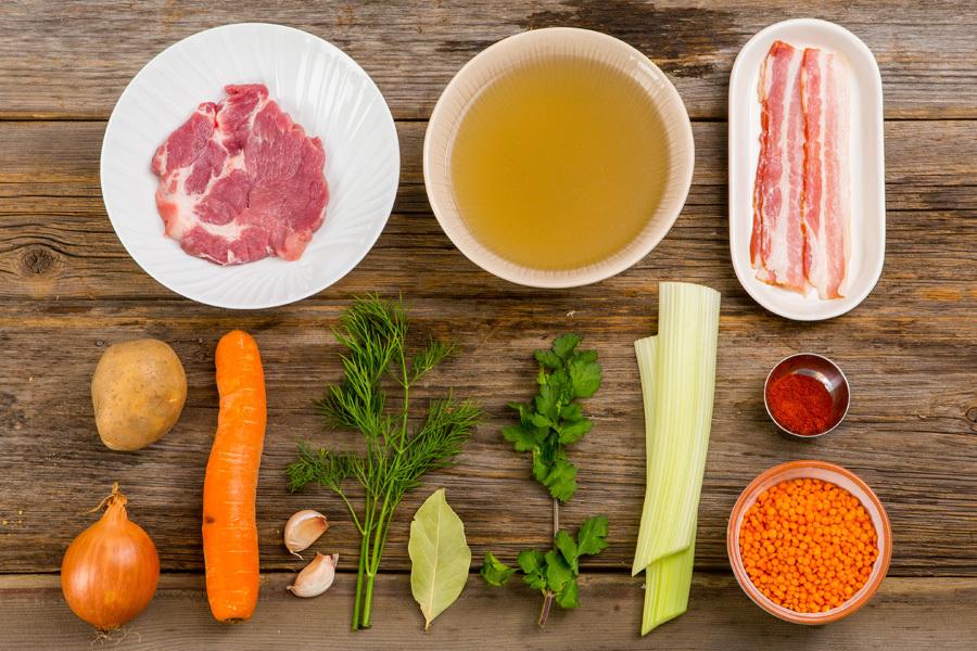Чечевичный суп со свининой и копченой паприкой от Шефмаркет