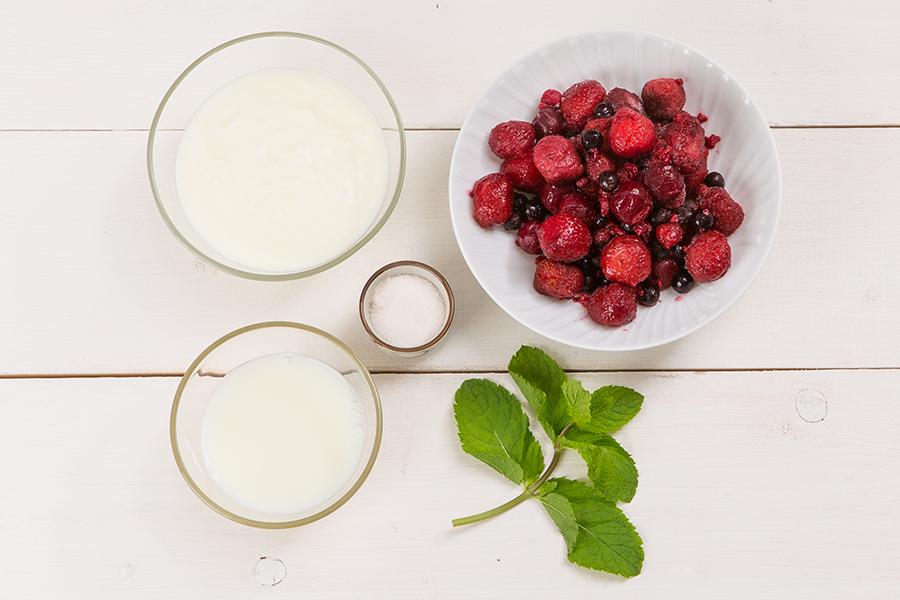 Диетический мятно-ягодный смузи от Шефмаркет