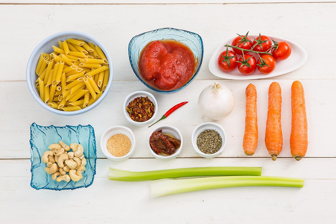 Вегетарианские пенне арабьята с кешью от Шефмаркет