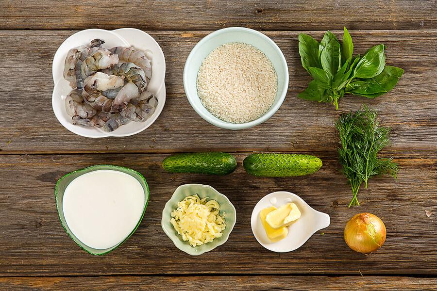 Рис по-итальянски с креветками от Шефмаркет