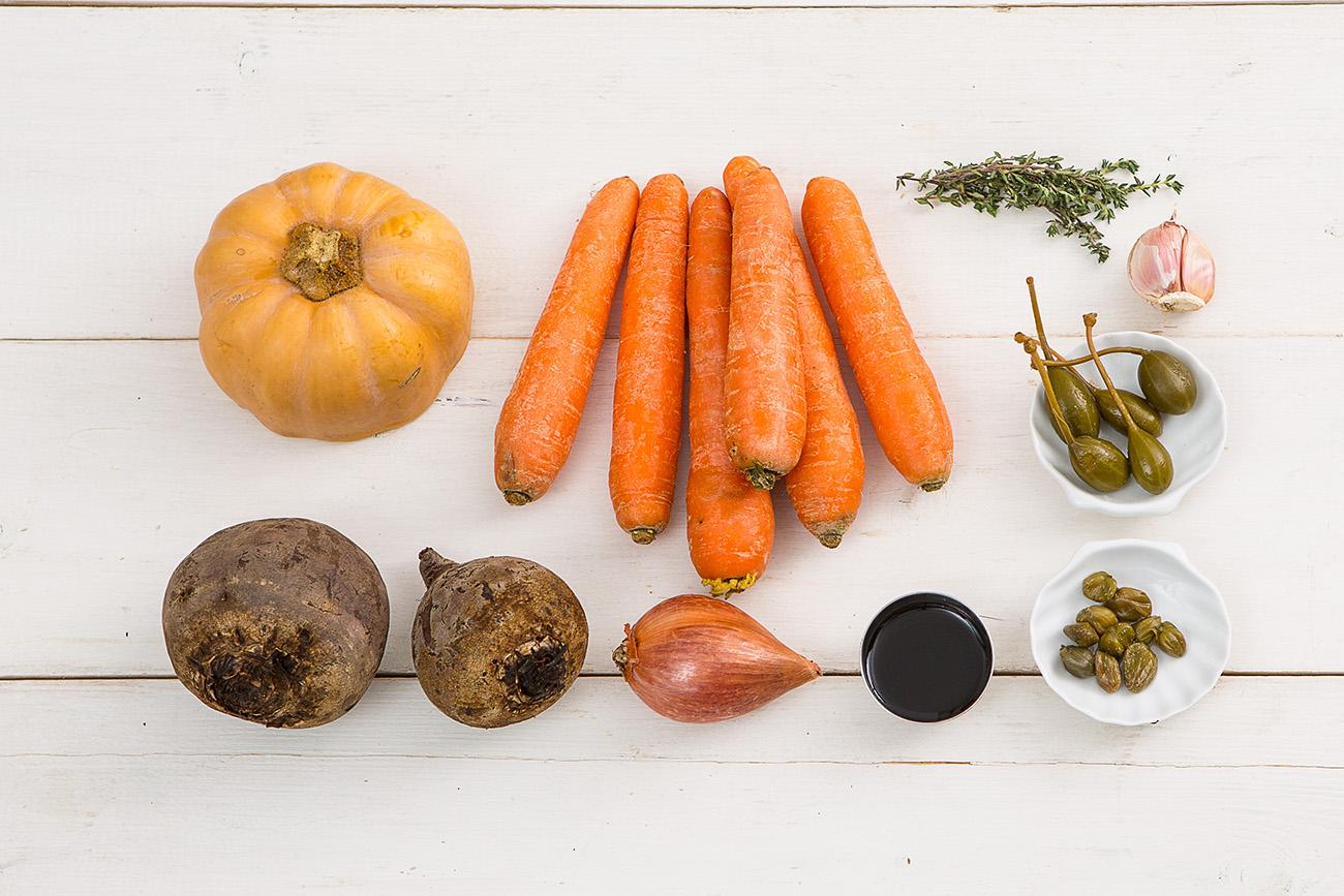 Салат из печеных овощей с бальзамической заправкой от Шефмаркет