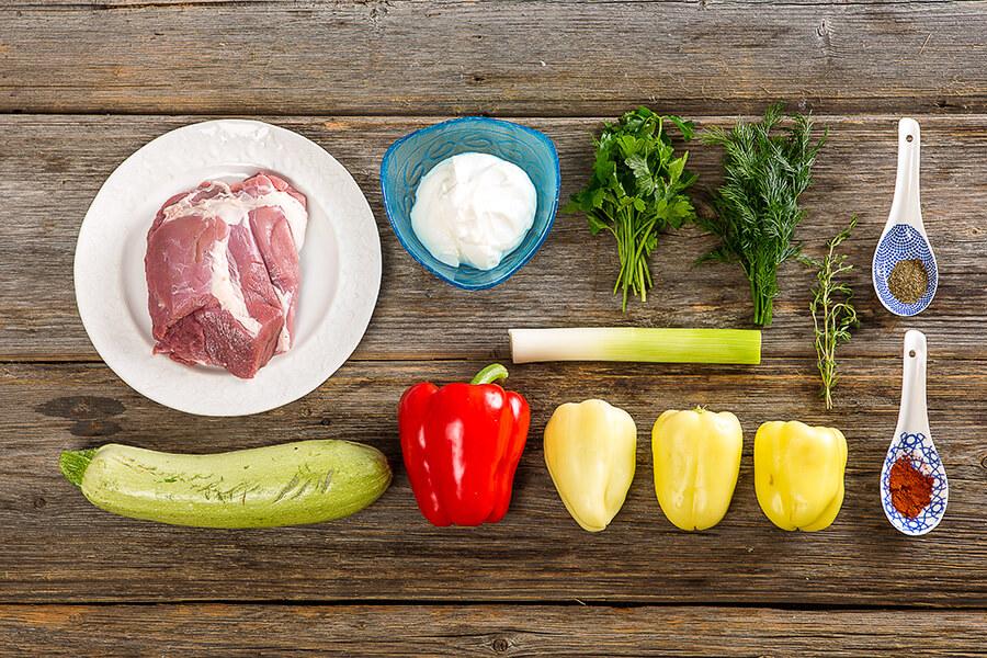 Баранина-гриль с запеченными овощами от Шефмаркет