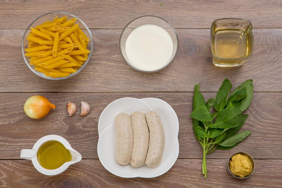 Пенне с колбасками и горчицей от Шефмаркет