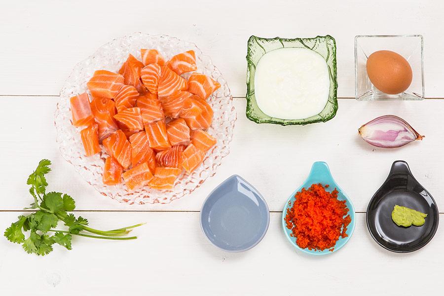 Форшмак из лосося с тобико по-японски от Шефмаркет